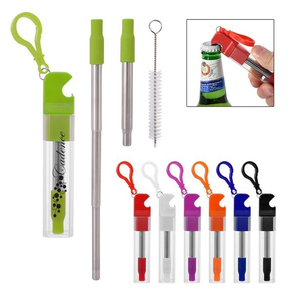 Straw Kit With Bottle Opener