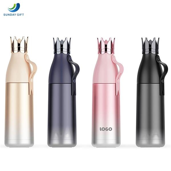 Crown Thermos Water Bottle