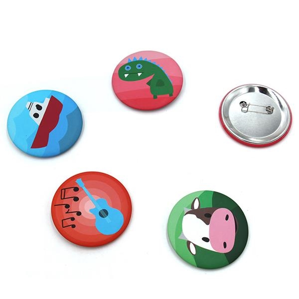 Full Color Button w/Safety Pin
