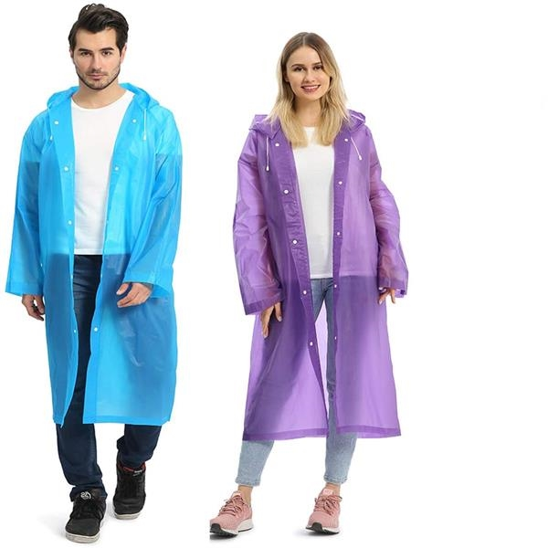 Portable EVA Raincoats for Adults
