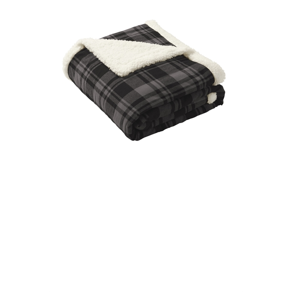 Port Authority Flannel Sherpa Blanket.