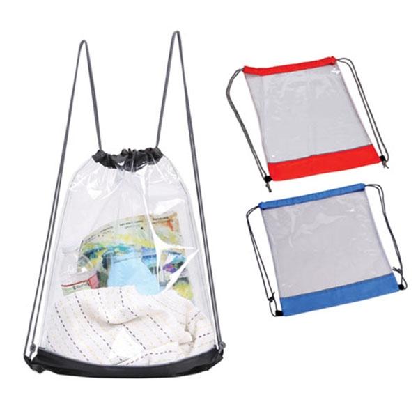 Clear Drawstring Backpack transparent drawstring backpack