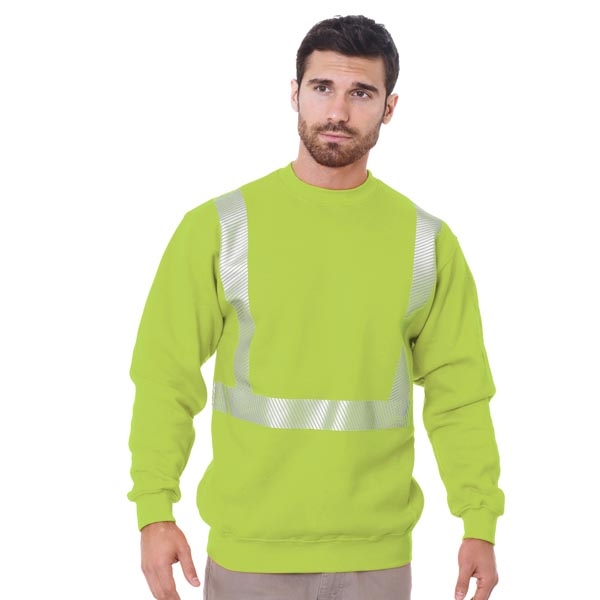 Made in USA Hi-Visibility Crewneck Sweatshirt