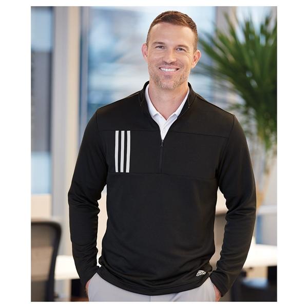 Adidas 3-Stripes Double Knit Quarter-Zip