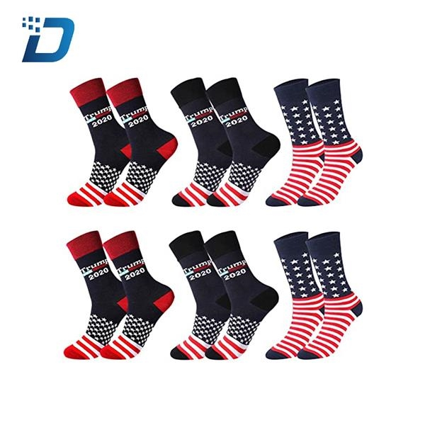 Donald Trump 2020 Socks American Flag Socks President Socks