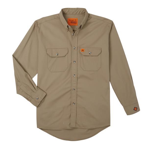 Wrangler FR Flame Resistant Long Sleeve Work Shirt