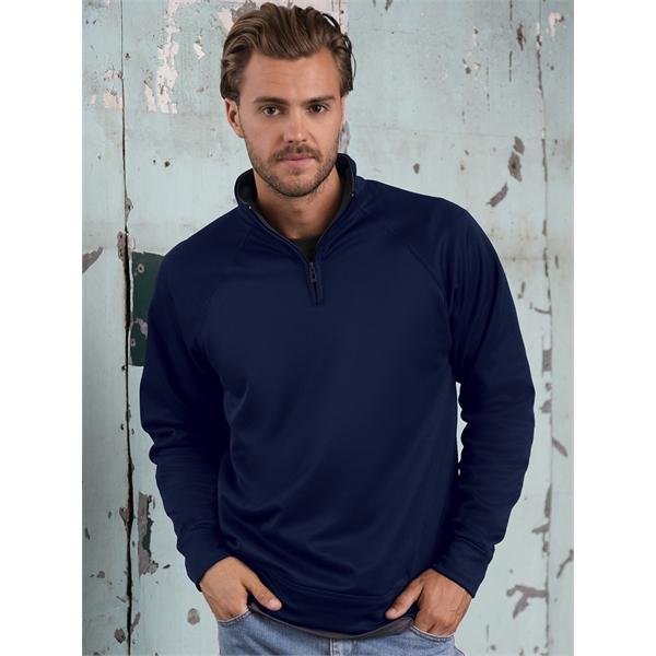 JZ® DRI-POWER® Quarter-Zip Cadet Collar Sweatshirt