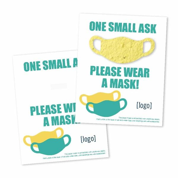 Stay Safe - Seed Paper Shape Panel Card