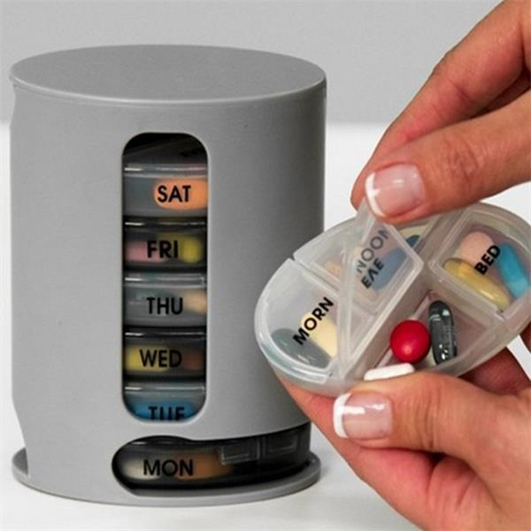 Weekly Pill Organizer 7 Stackable Compartments