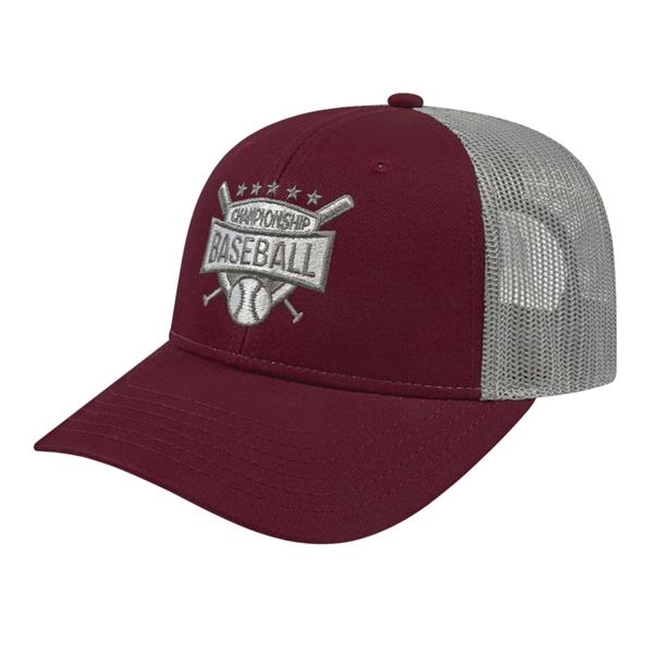 Youth Trucker with Modified Flat Bill Cap