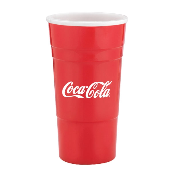 22 oz single wall Reusable Plastic Party Cup