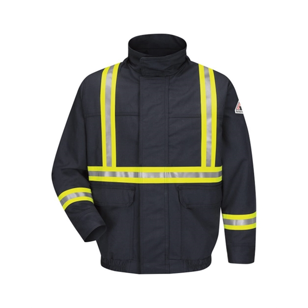 Bulwark Lined Bomber Jacket with Reflective Trim - EXCEL ...