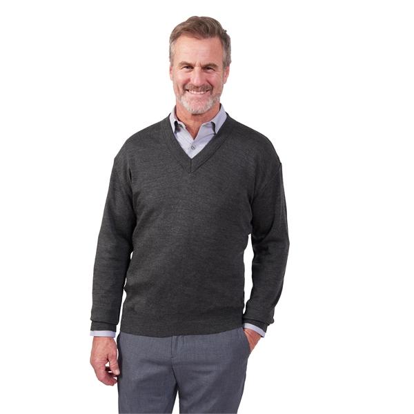 Fine Gauge V-Neck Long Sleeve Pullover