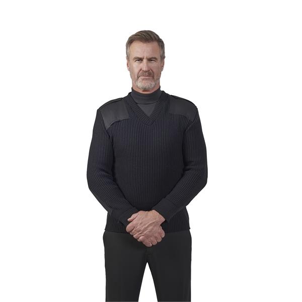 V-Neck Rib Commando Sweater