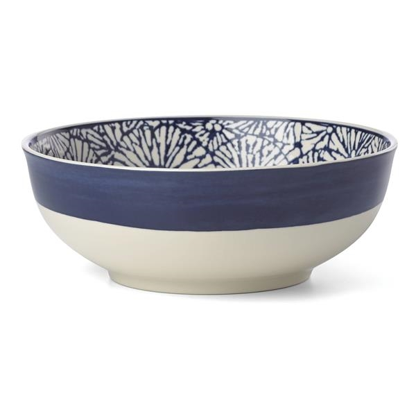 Market Pl Indigo Dinnerware Serve Bowl