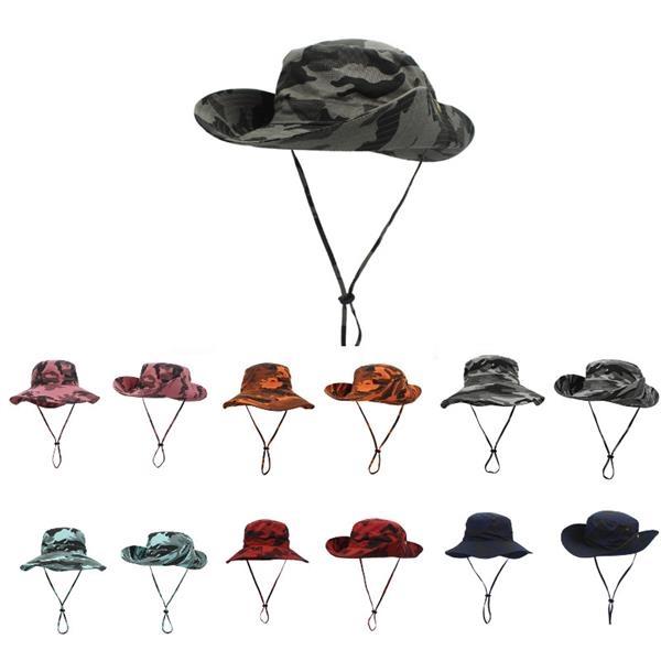 Wide Rim Camo Hat