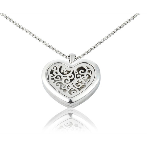 Essential Oil Diffuser Heart Shape Necklace