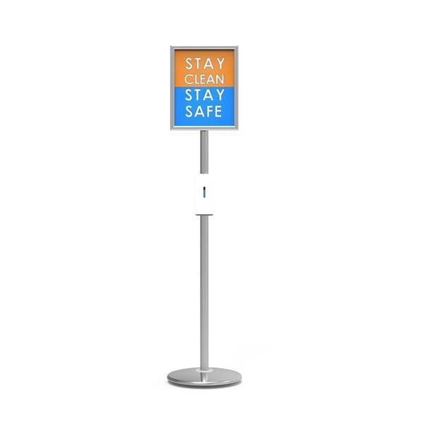 Trappa™ Post Sanitizer Stand Graphic