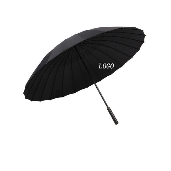 24 Bone Elegant Long Handle Umbrella