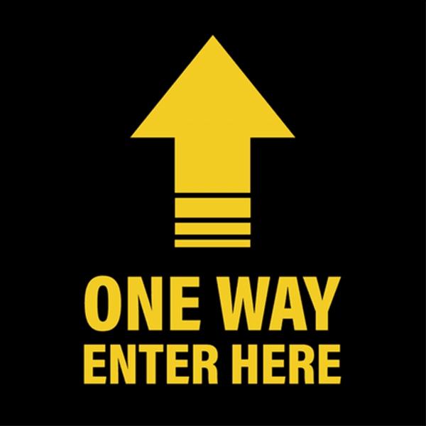 One Way Enter Here Floor Decal