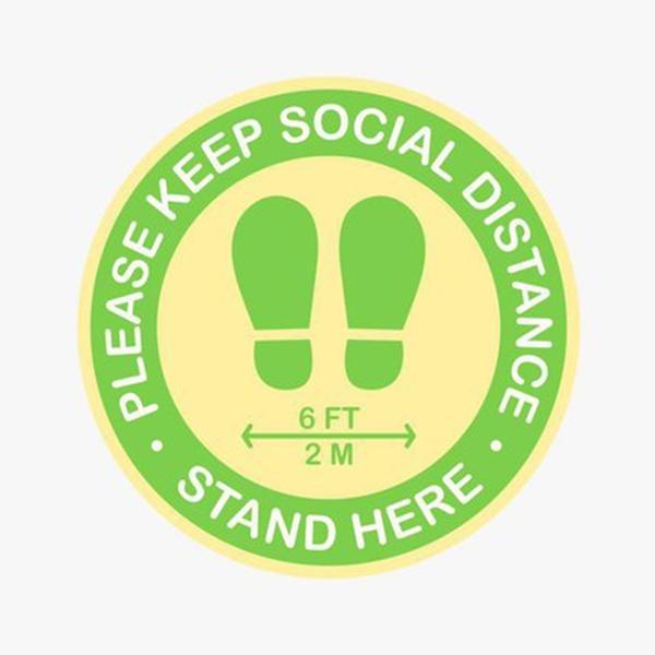 Please Keep Social Distance Floor Decal