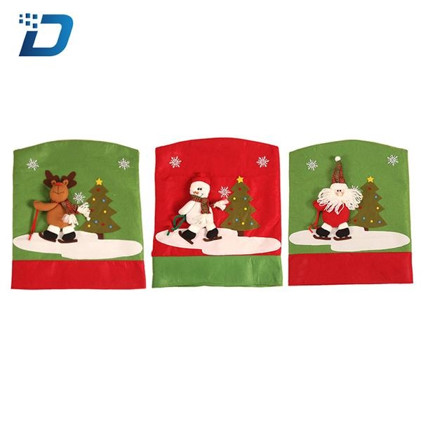 Santa Claus Cap Chair Decorations Back Cover