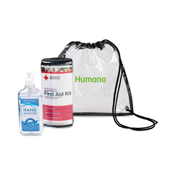 American Red Cross First Aid Kit & Hand Sanitizer Bundle
