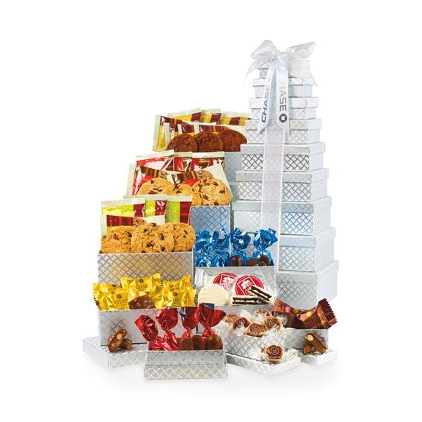 Gourmet Tower of Individually Wrapped Treats 48 pc