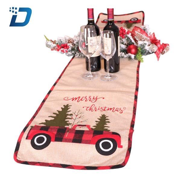 Christmas Linen Table Runner