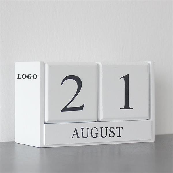 Wooden Desk Blocks Calendar