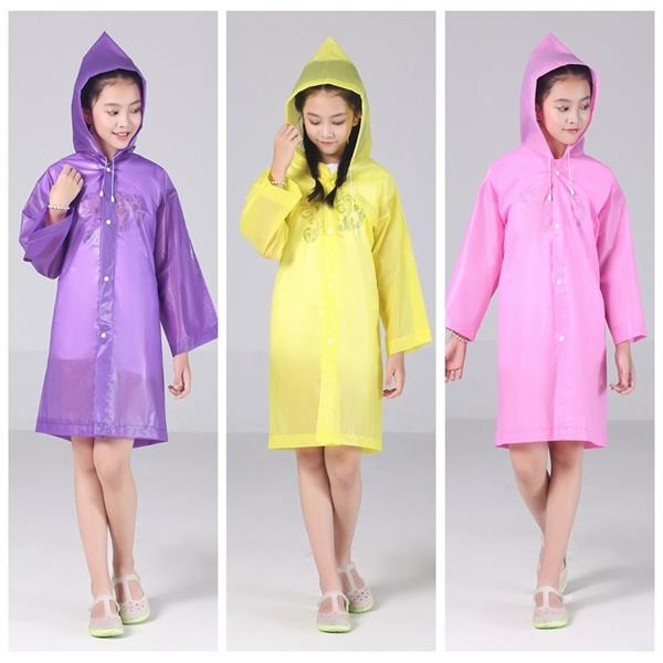 EVA Transparent Fashion Frosted Child Raincoat