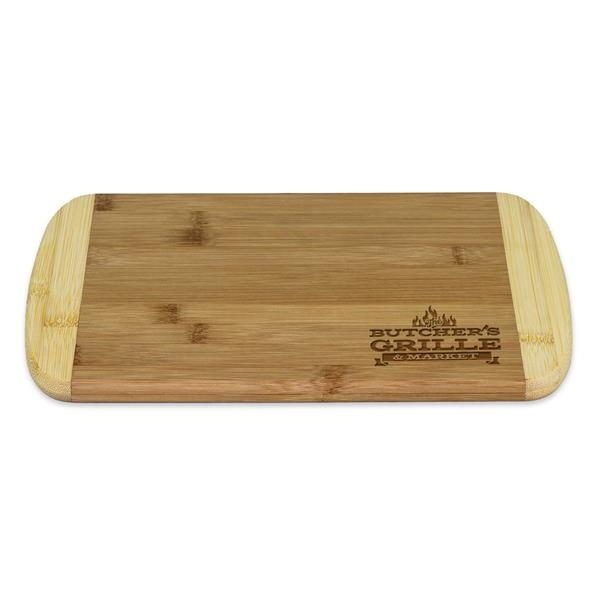 "8"" Two-Tone Cutting Board - Two-Tone cutting board with lighter end caps."