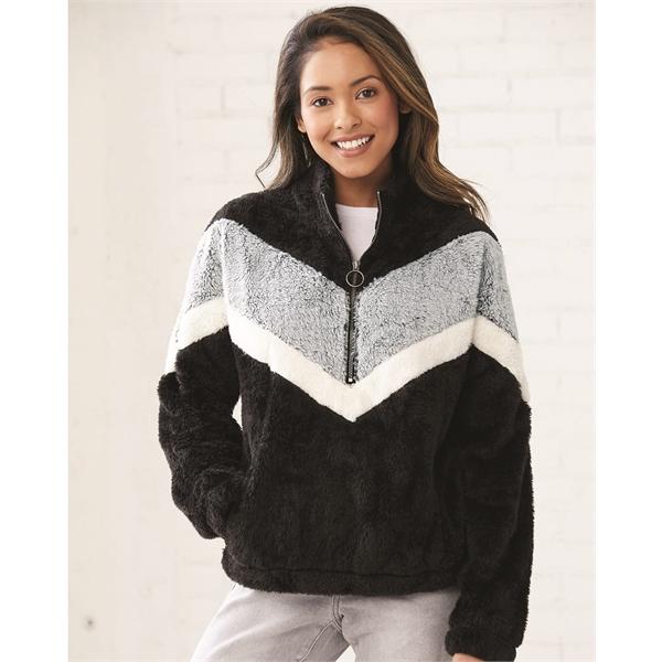 Boxercraft Women's Chevron Fuzzy Fleece