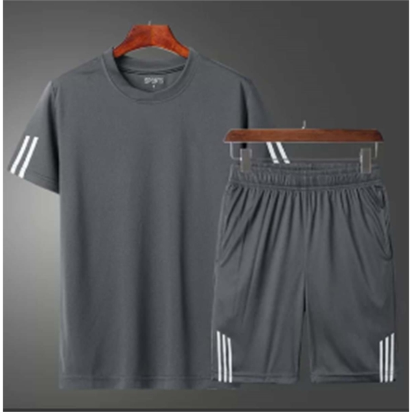 T-Shirt Sport Suits Cotton Quick drying fabric Polyester