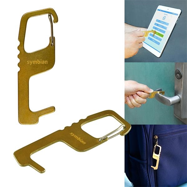 Touch Free Brass Keytag
