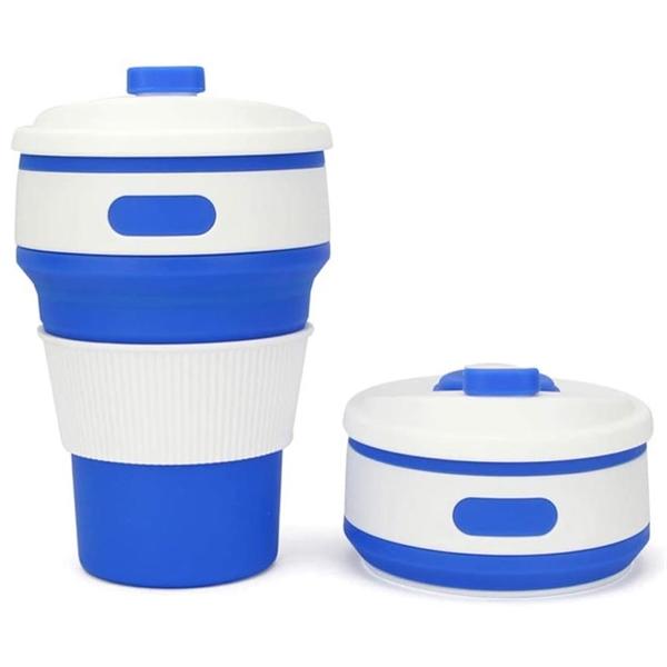 12 Oz Silicone Folding Cup Portable Telescopic Water Drinkin