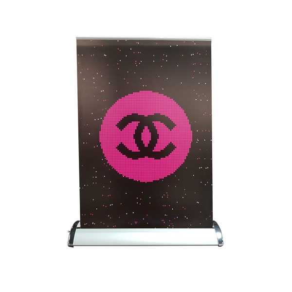 Retractable Tabletop Banner Stand Display, 11.6 x 16.5