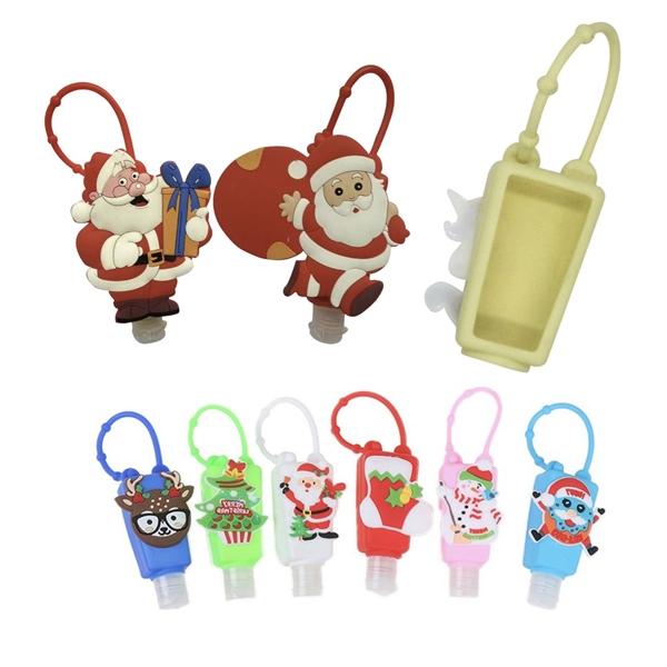 Custom Christmas Bottle Holders for 1oz Hand Sanitizer