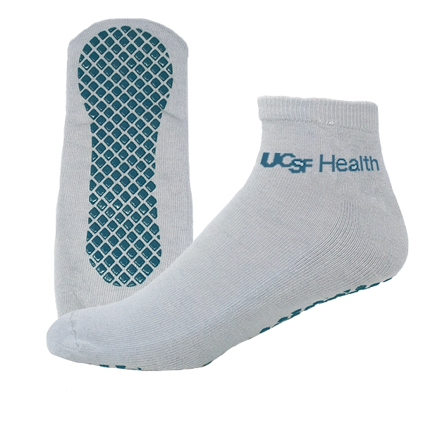 Import Polyester Footie Tread Sock with Knit-In Design