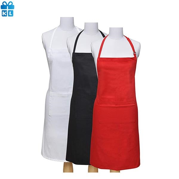 Adjustable Bib Apron Water Drop Resistant Cooking Kitchen Ap