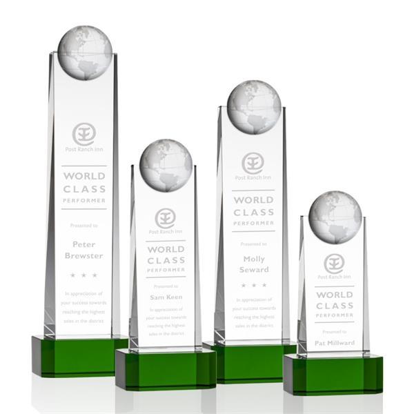Sherbourne Globe Award on Base - Green