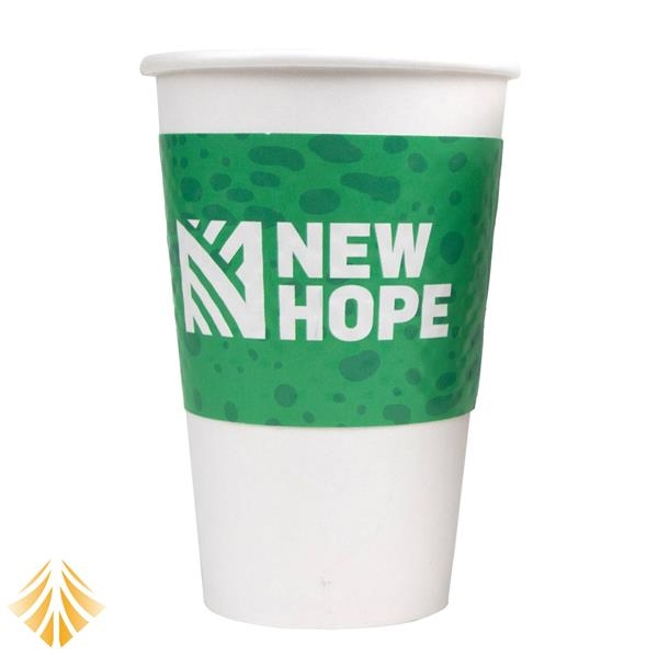 Disposable Dimpled White Coffee Sleeve for 12-24 oz. Cups