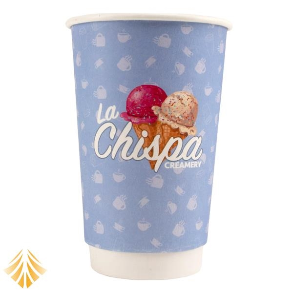 16 oz. Double Wall Insulated White Paper Hot Cup