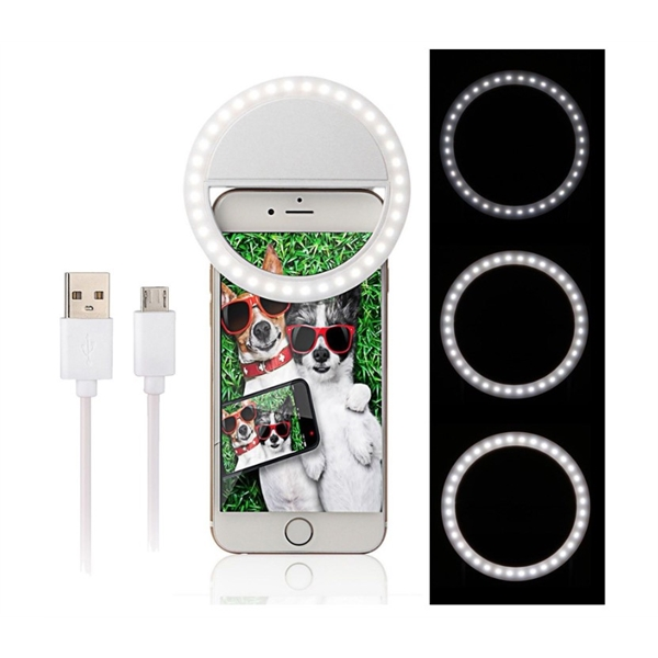 Custom Rechargeable Selfie Ring Light  Free Shipping
