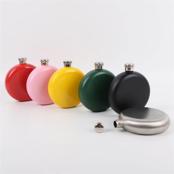 5oz Solid Round Hip Flask