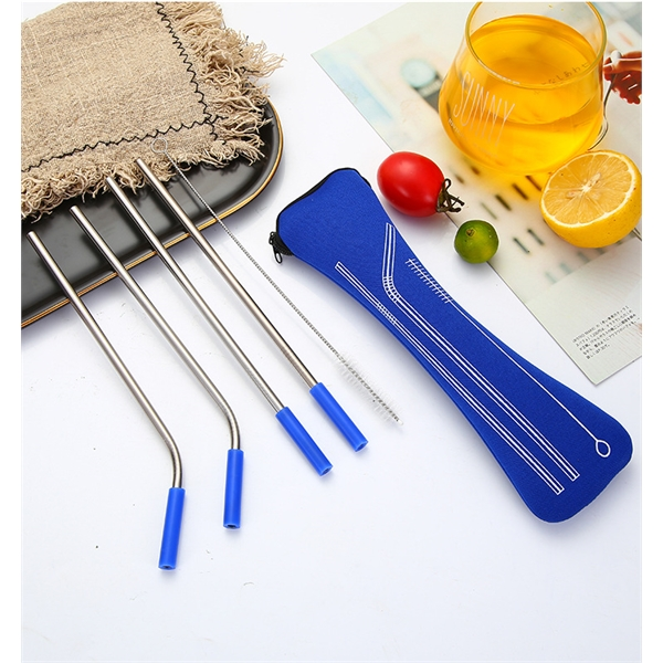 Stainless Reusable Straw in zippered pouch