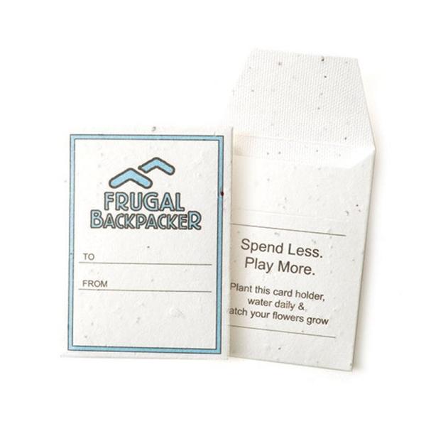 Seed Paper Gift / Key Card Sleeve