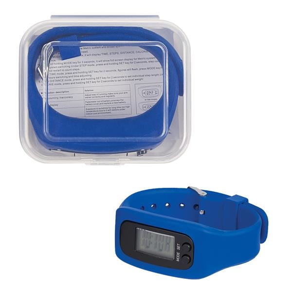 Boxed digital LCD watch (Pedometer watch)