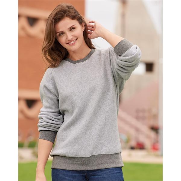J. America Flip Side Fleece Crewneck Pullover