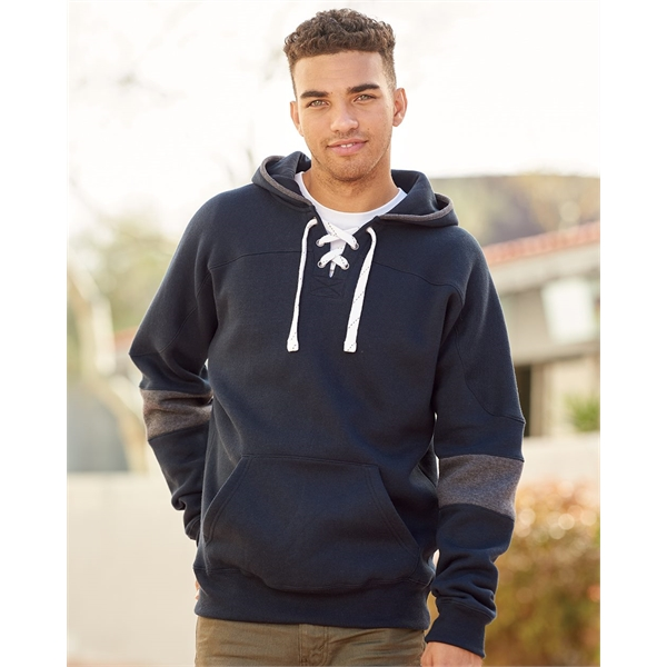 J. America Sport Lace Colorblocked Fleece Hooded Sweatshirt